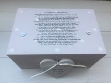 Shabby Personalised Chic Mother & Father Of The Bride Wedding Gift LARGE Box